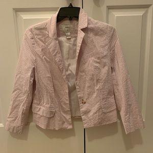 Striped cropped blazer